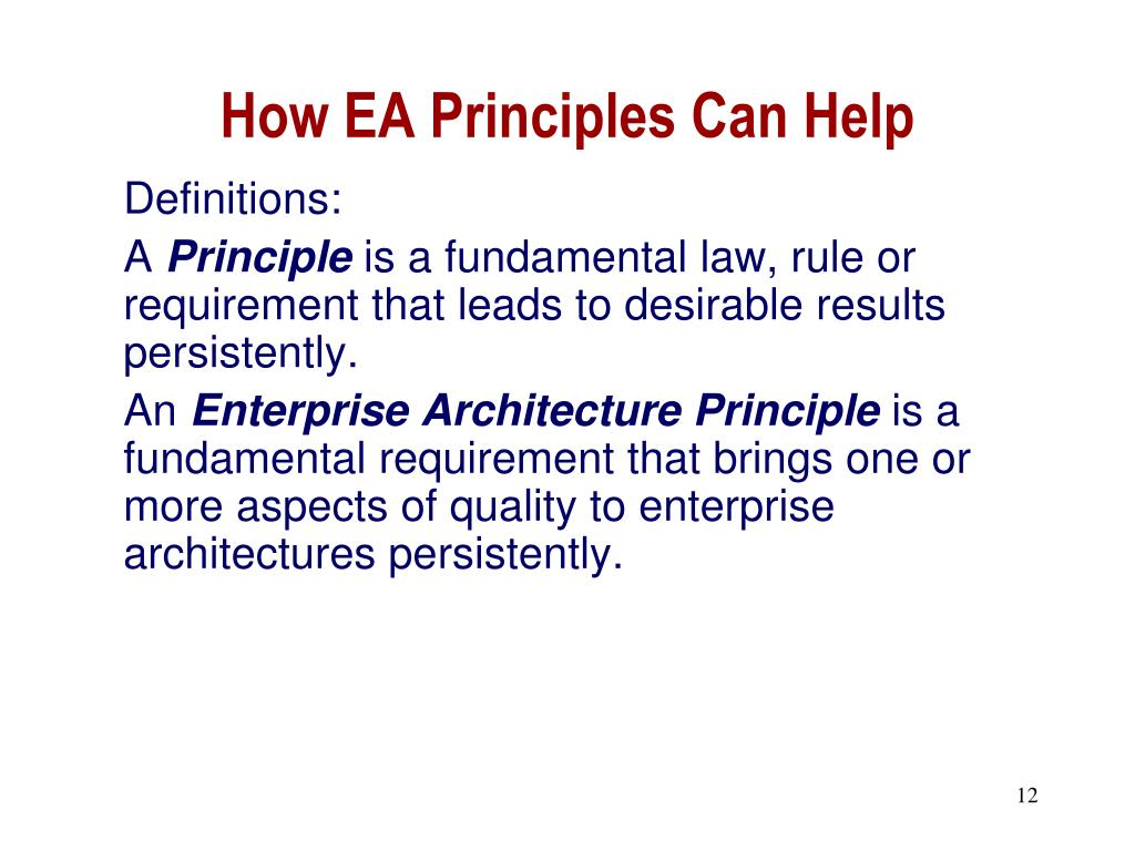 How EA Principles Can Help