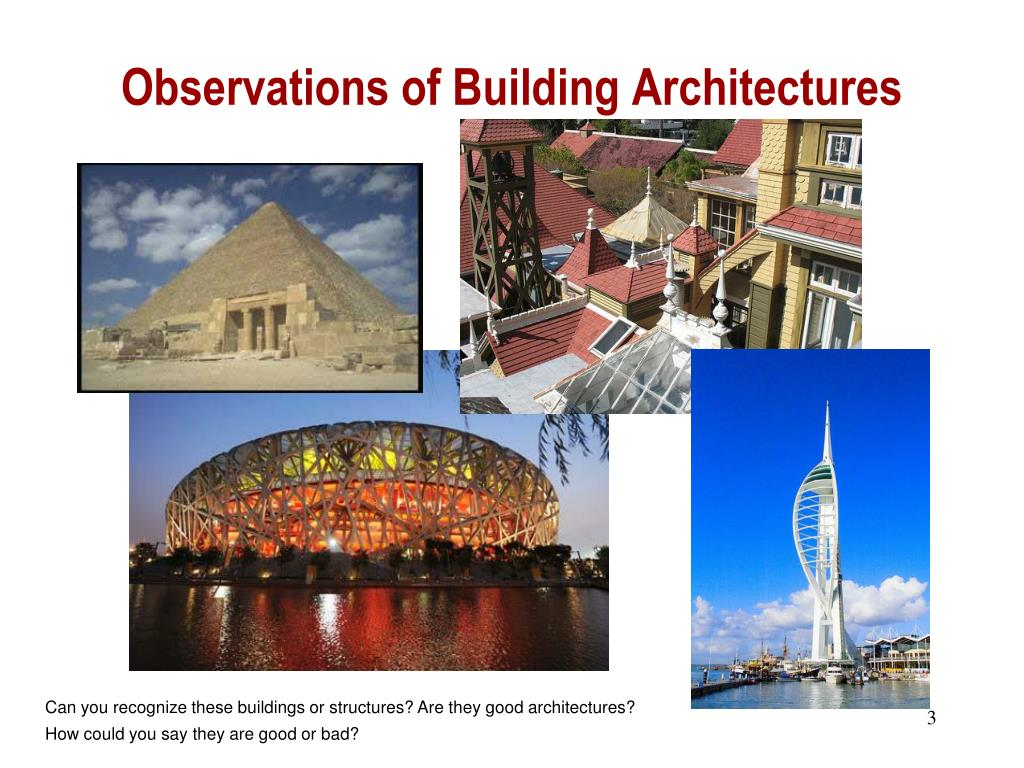 Observations of Building Architectures