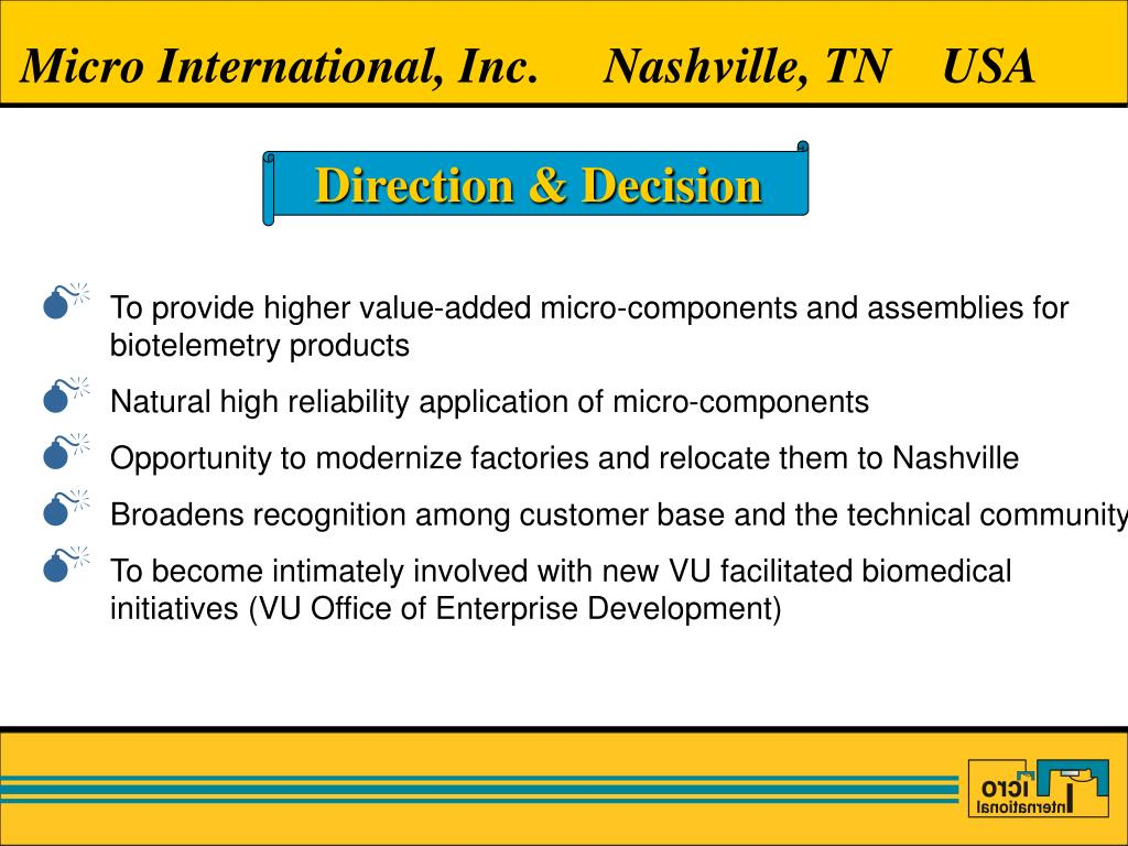 Micro International, Inc.     Nashville, TN    USA