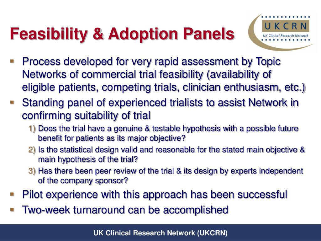 Feasibility & Adoption Panels