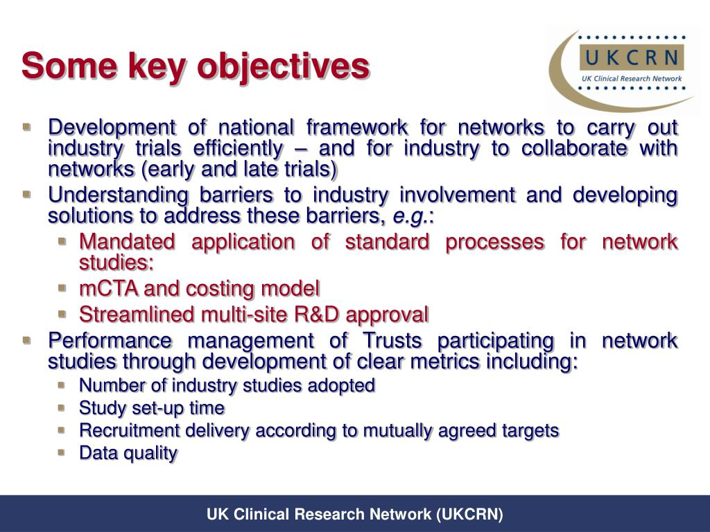 Some key objectives
