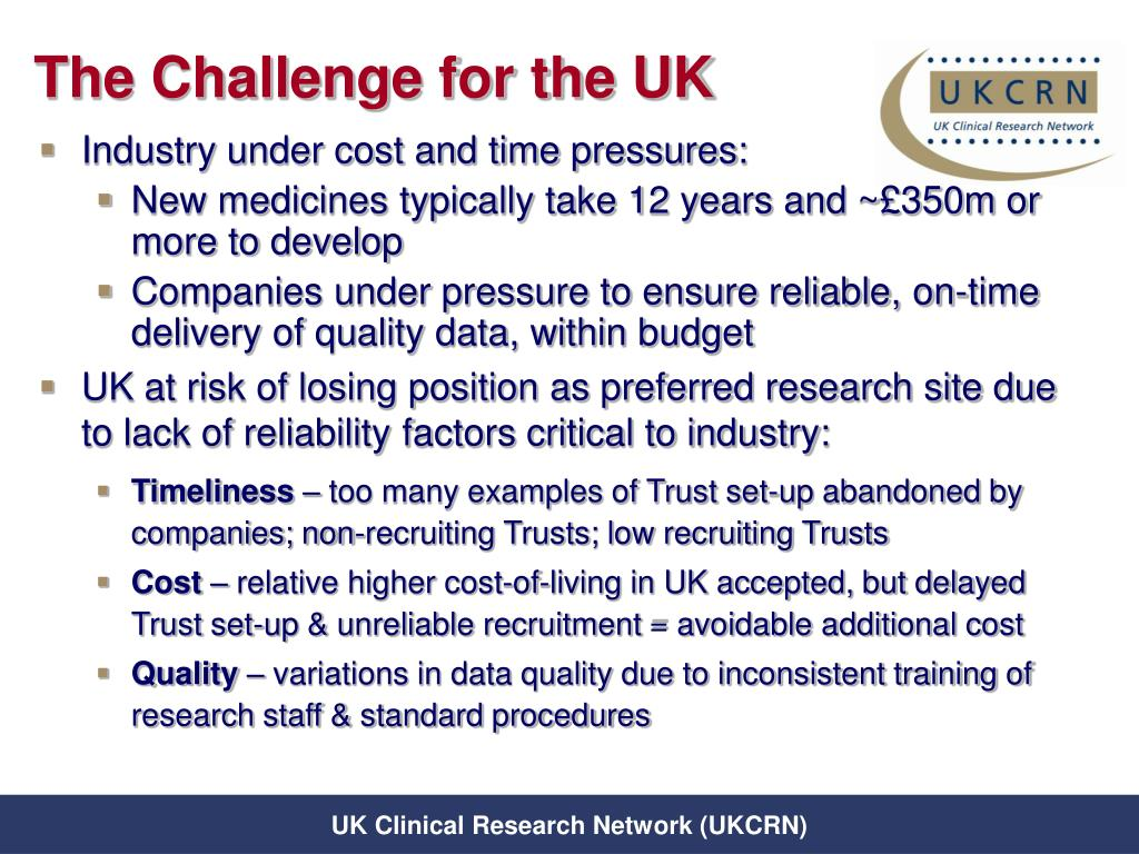 The Challenge for the UK