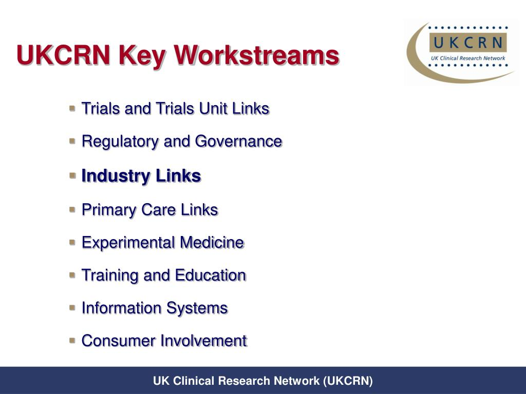 UKCRN Key Workstreams
