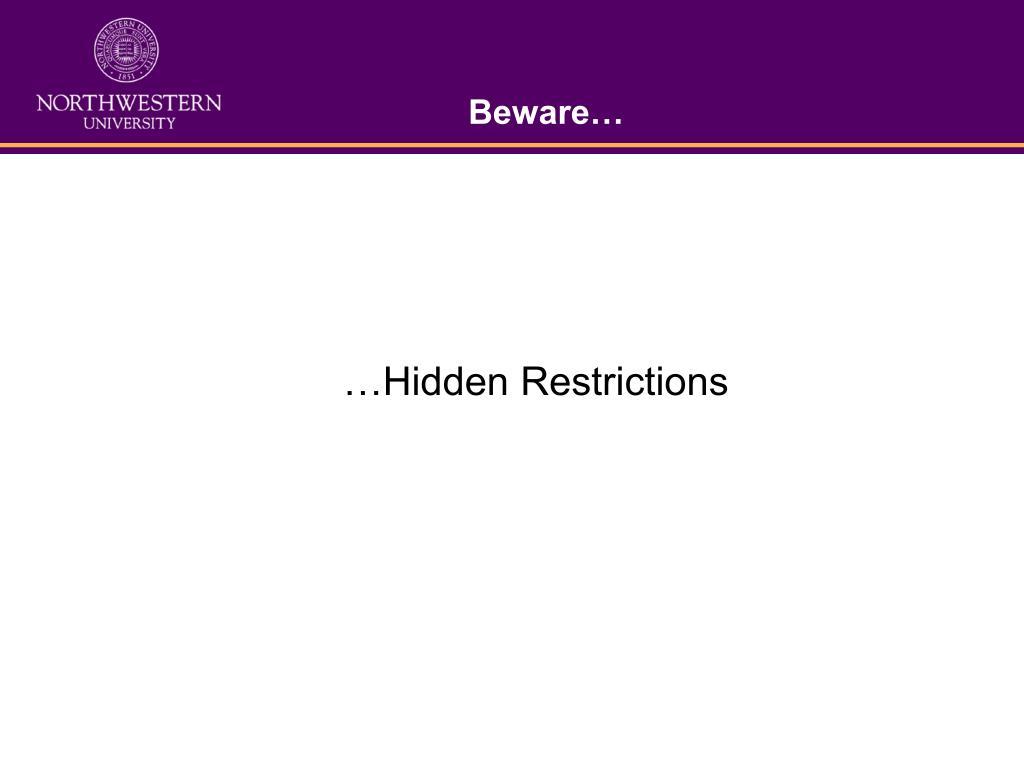 Beware…