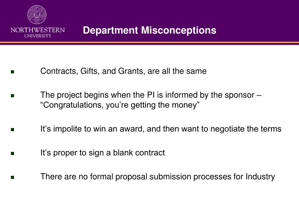 Department Misconceptions