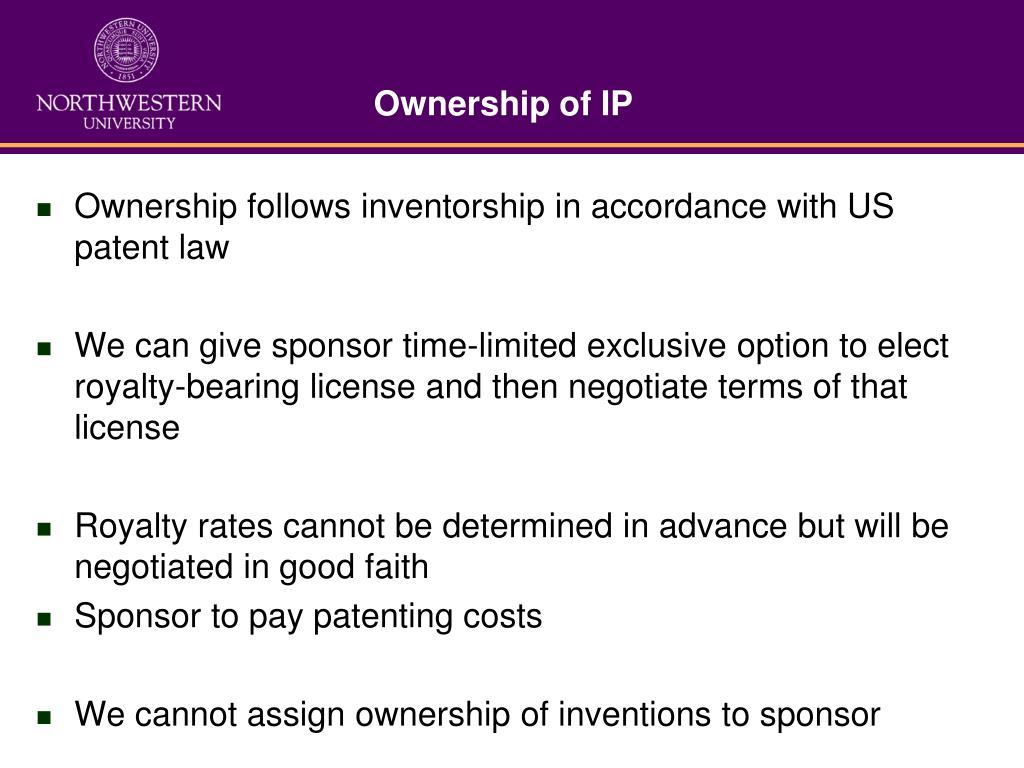 Ownership of IP