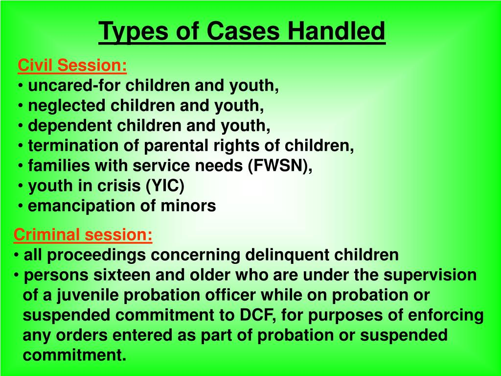 Types of Cases Handled