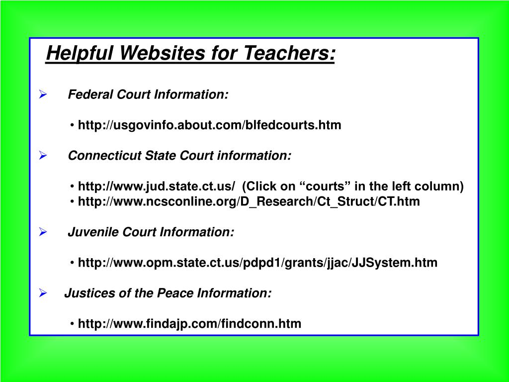 Helpful Websites for Teachers: