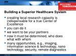 building a superior healthcare system15