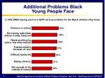 additional problems black young people face