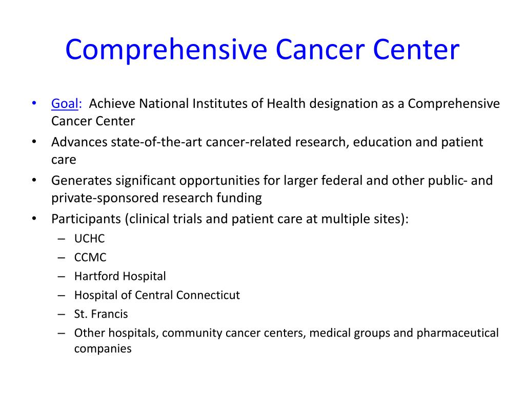Comprehensive Cancer Center