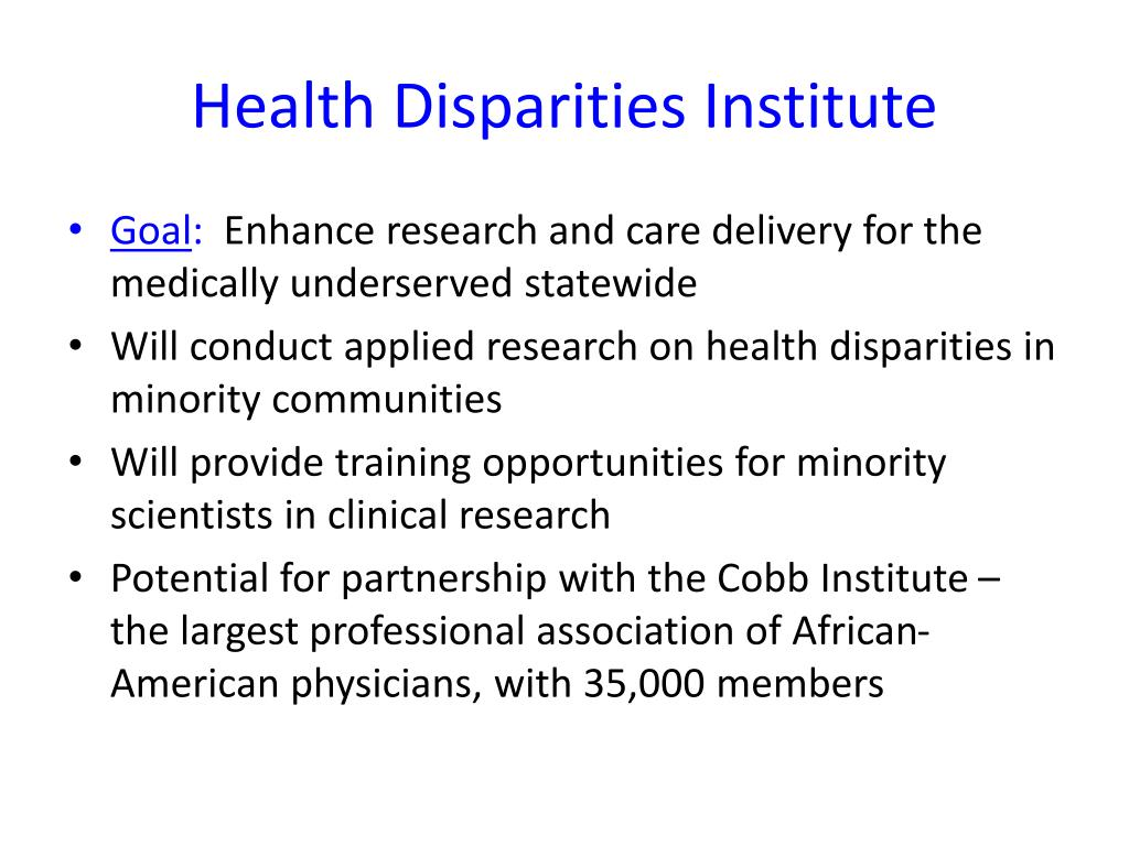 Health Disparities Institute