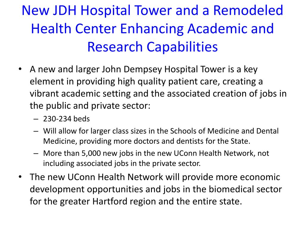New JDH Hospital Tower and a Remodeled Health Center Enhancing Academic and Research Capabilities