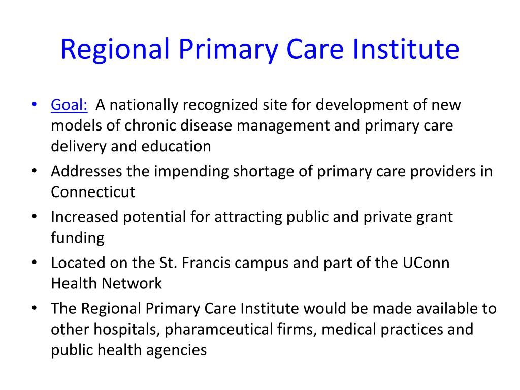 Regional Primary Care Institute