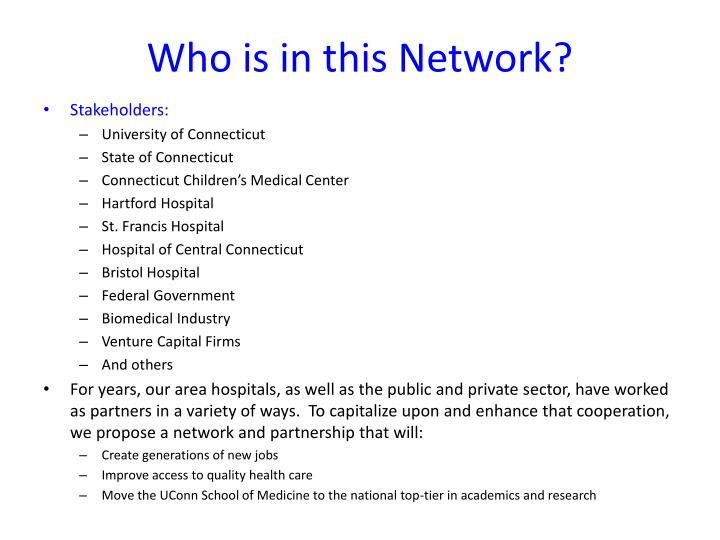 Who is in this network