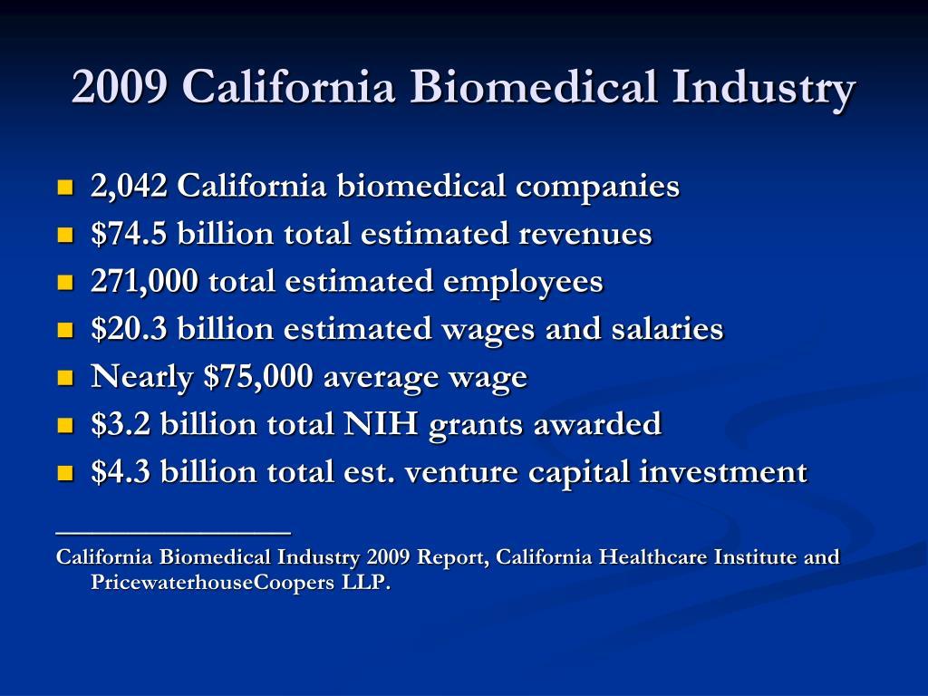 2009 California Biomedical Industry