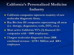 california s personalized medicine industry