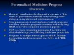 personalized medicine progress overview