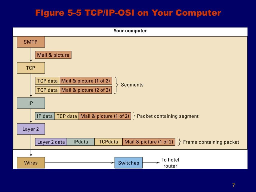 Figure 5-5 TCP/IP-OSI on Your Computer