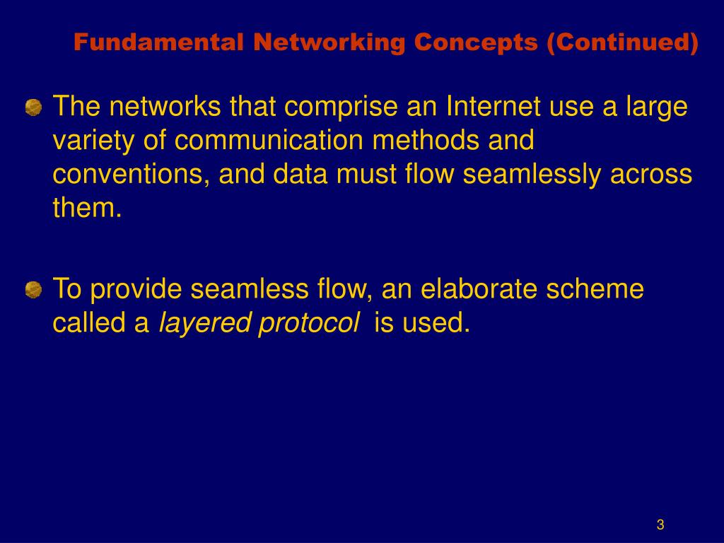 Fundamental Networking Concepts (Continued)