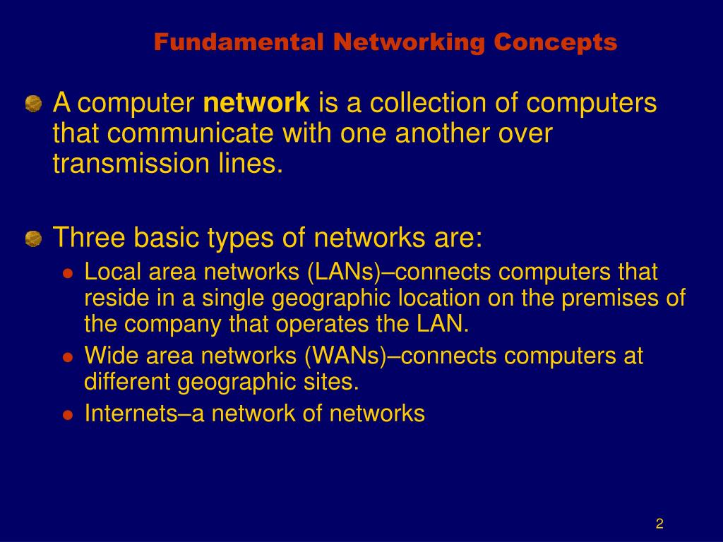 Fundamental Networking Concepts