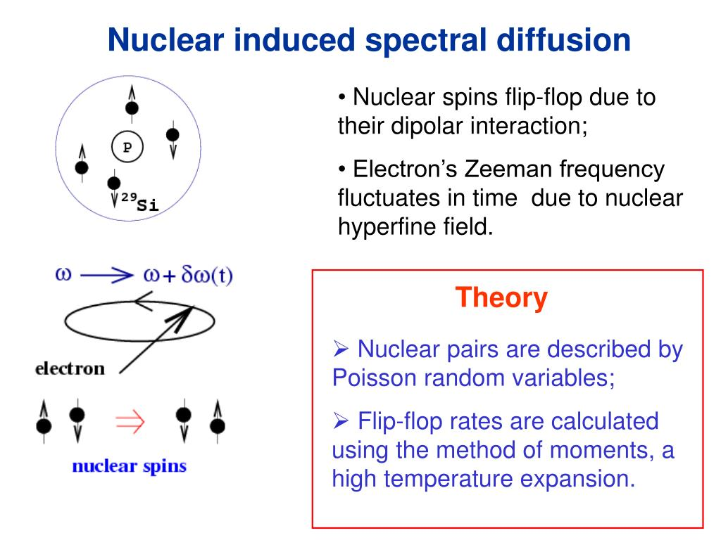 Nuclear induced spectral diffusion