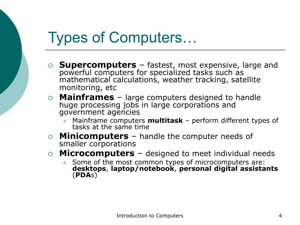 Types of Computers…