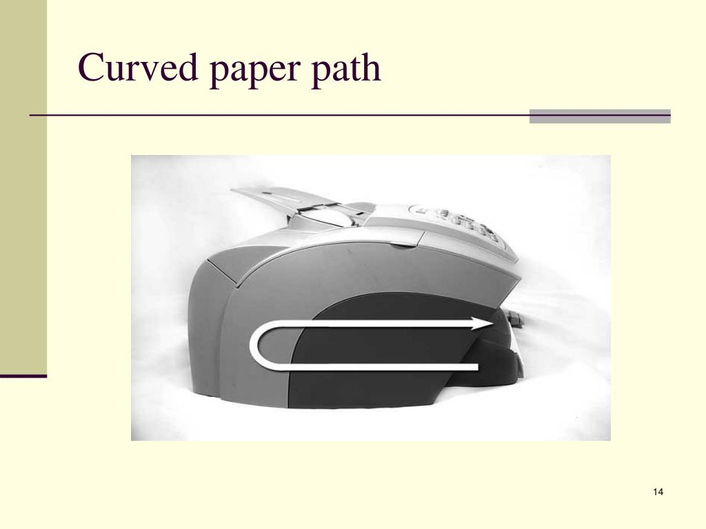 Curved paper path