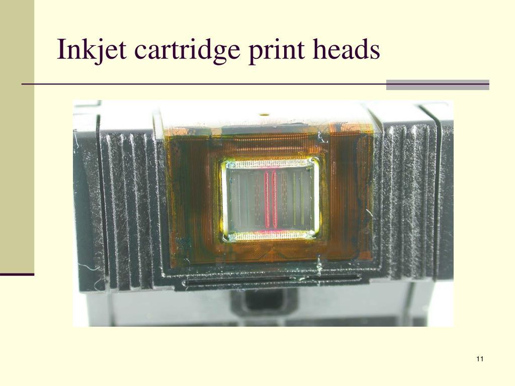 Inkjet cartridge print heads