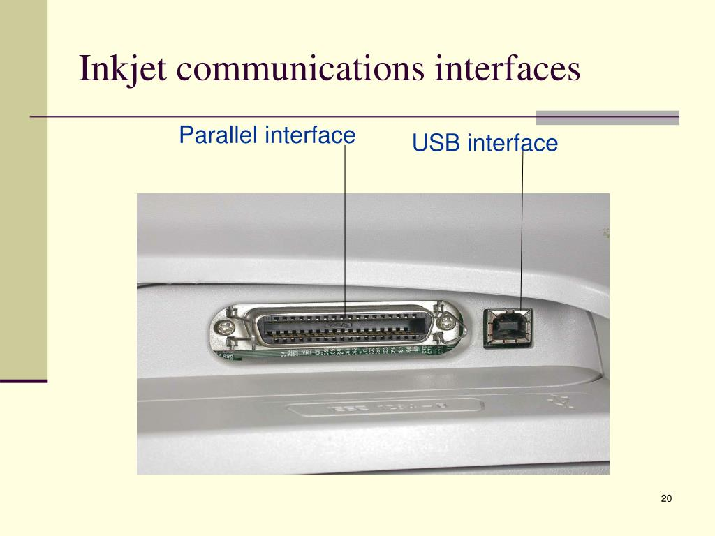 Inkjet communications interfaces