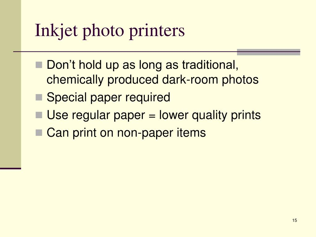 Inkjet photo printers