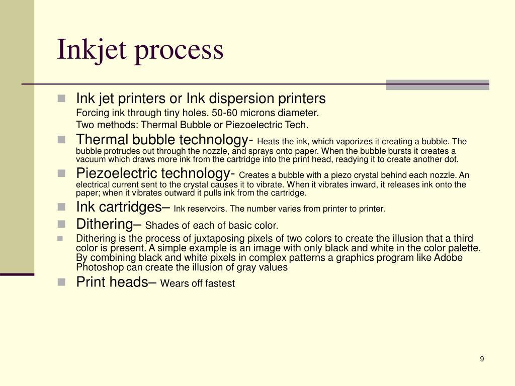Inkjet process