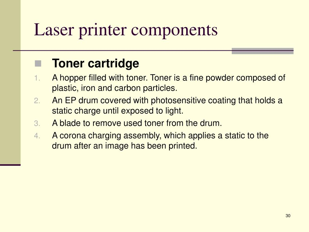 Laser printer components