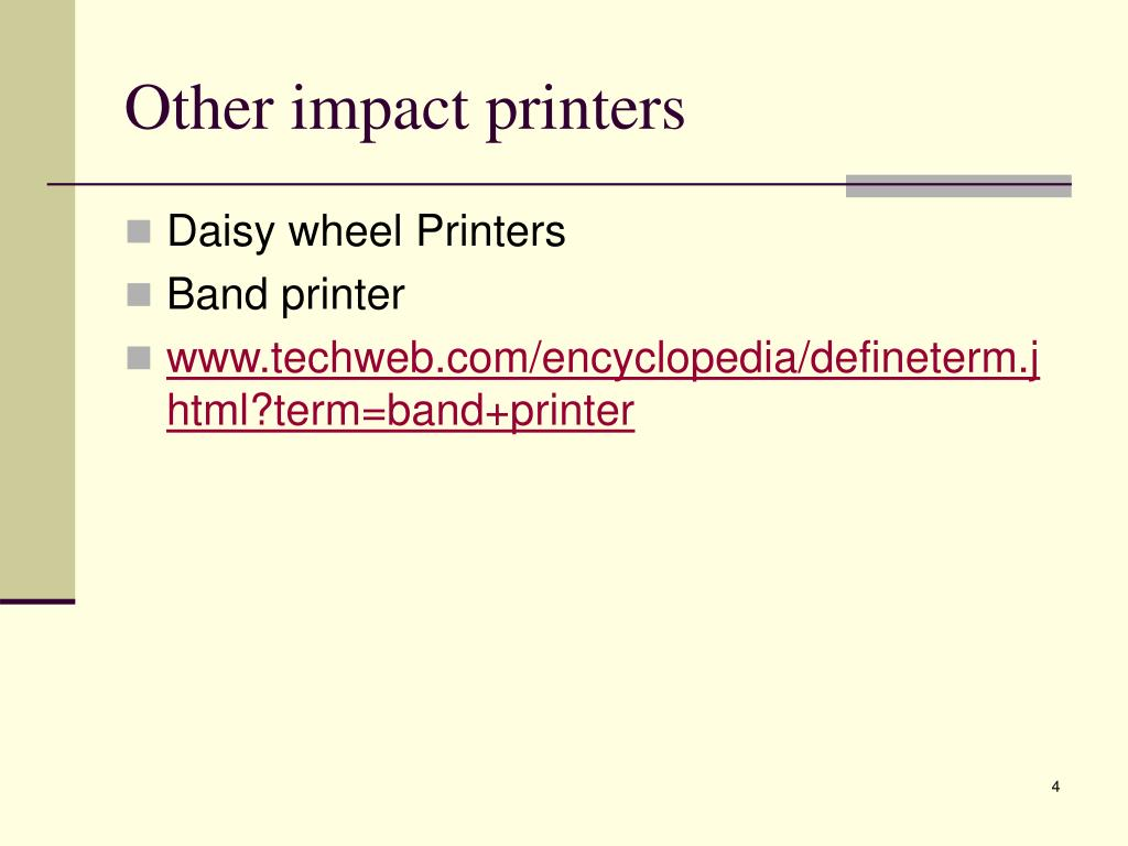 Other impact printers