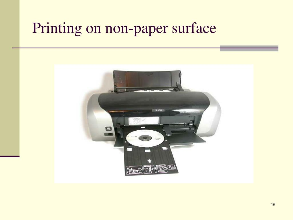 Printing on non-paper surface