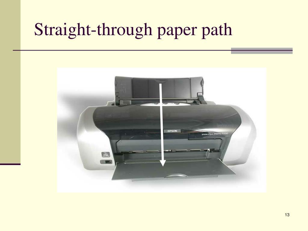 Straight-through paper path