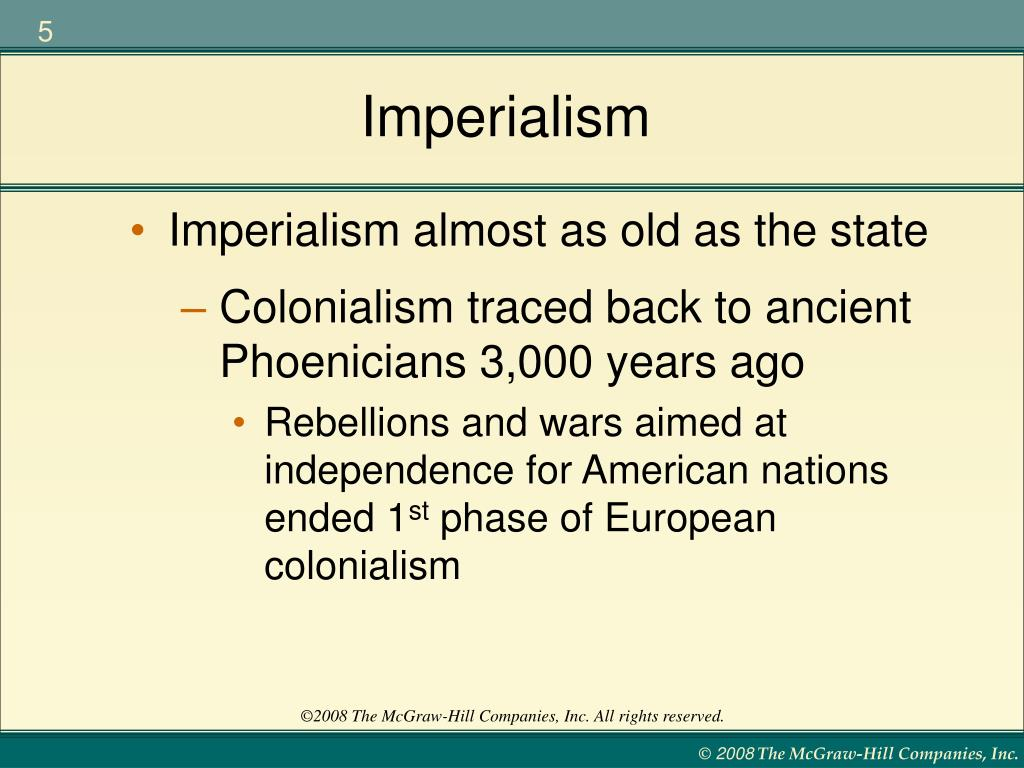 the development of new imperialism What were the causes of european imperialism in africa in the late 1800s and early 1900s, seven european powers - france, germany, britain, italy, spain, belgium and portugal - were active in claiming african territory as their own.