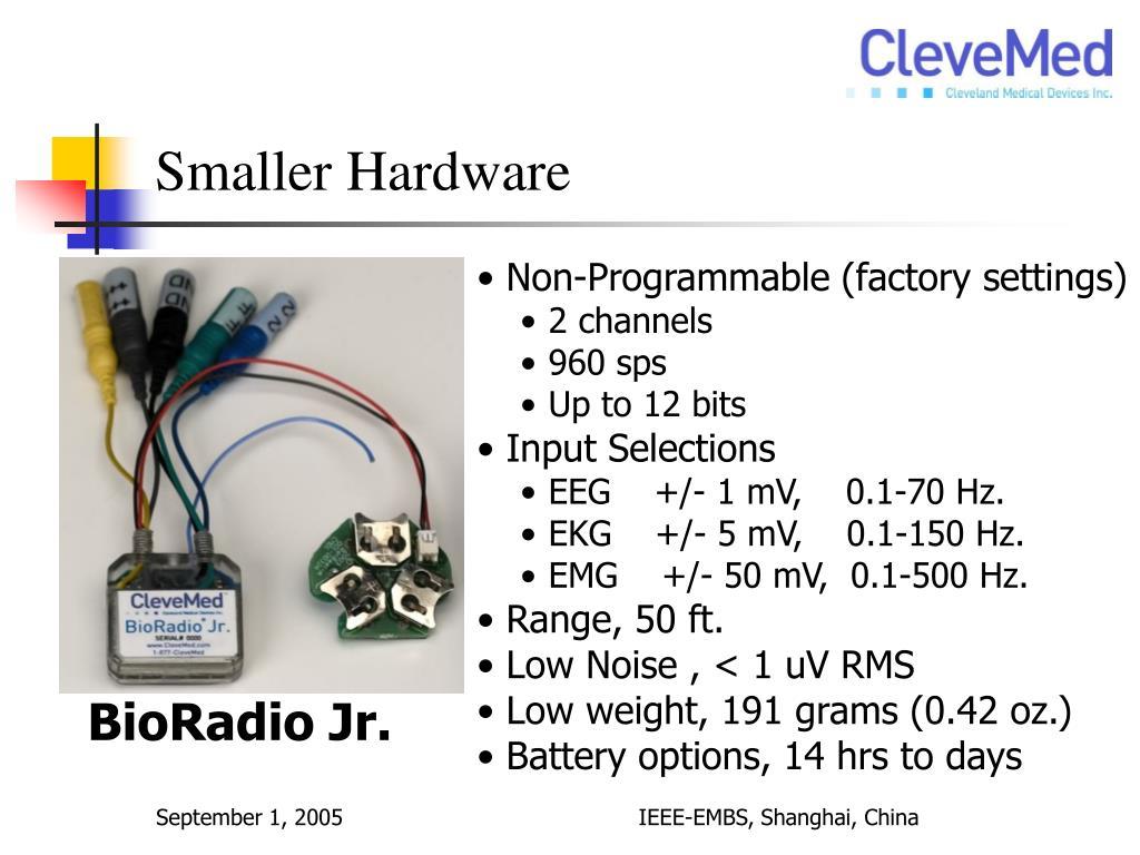 Smaller Hardware
