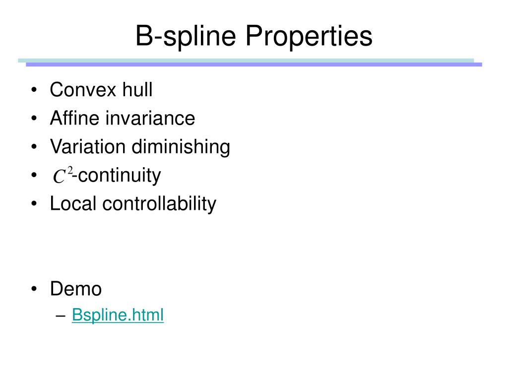 B-spline Properties