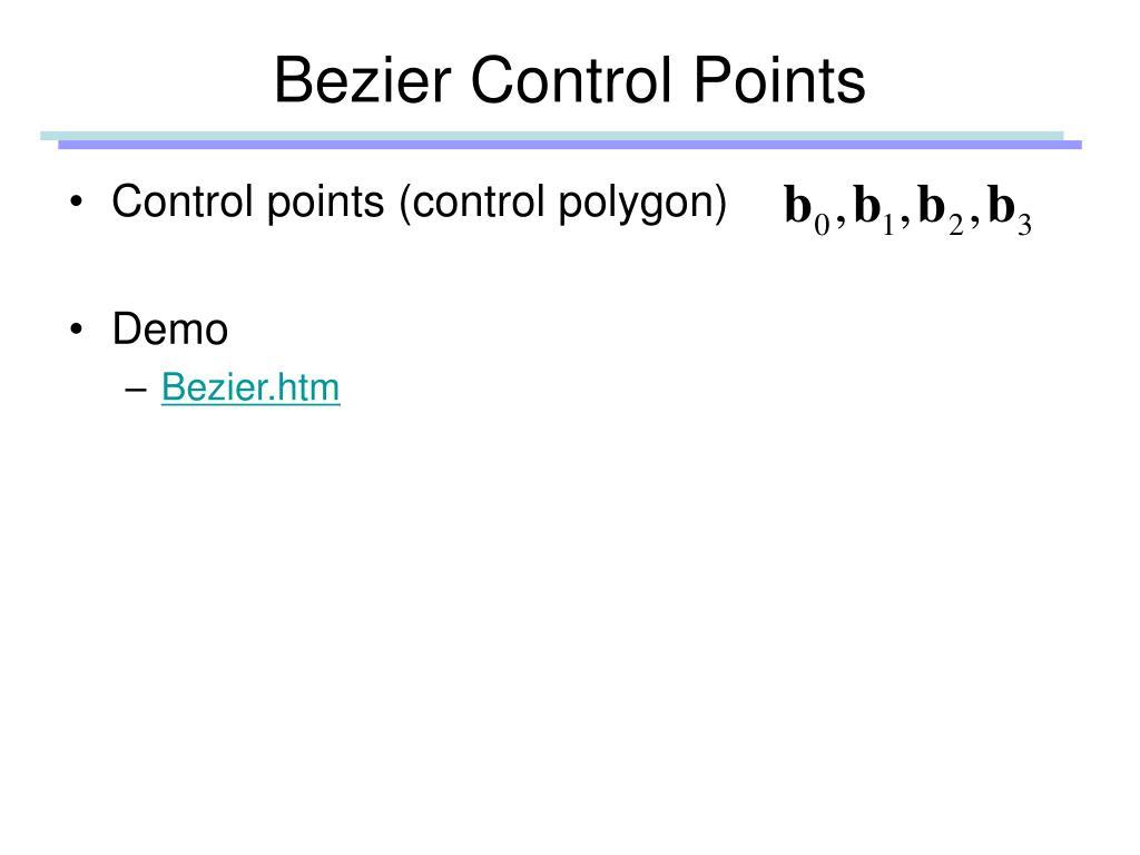 Bezier Control Points