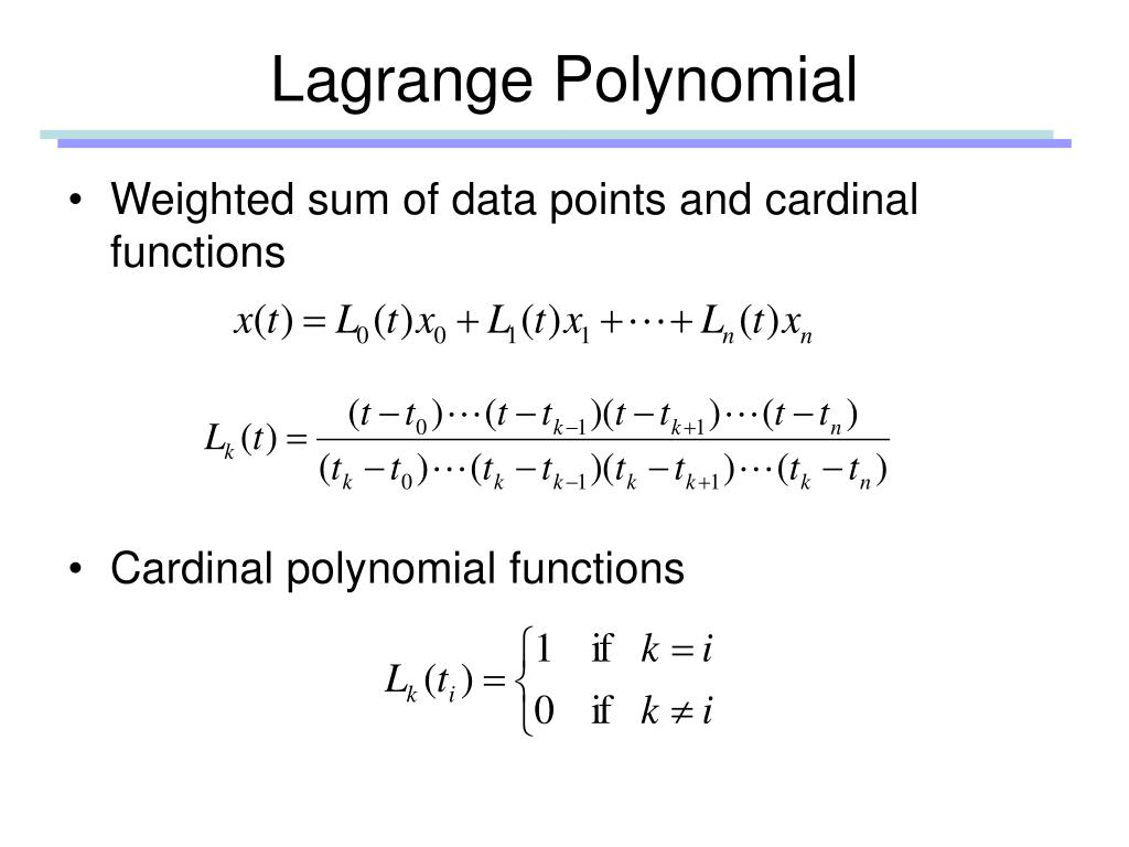 Lagrange Polynomial
