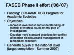 faseb phase ii effort 06 07