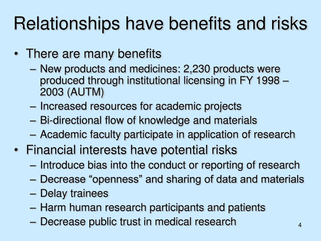 Relationships have benefits and risks