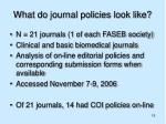 what do journal policies look like