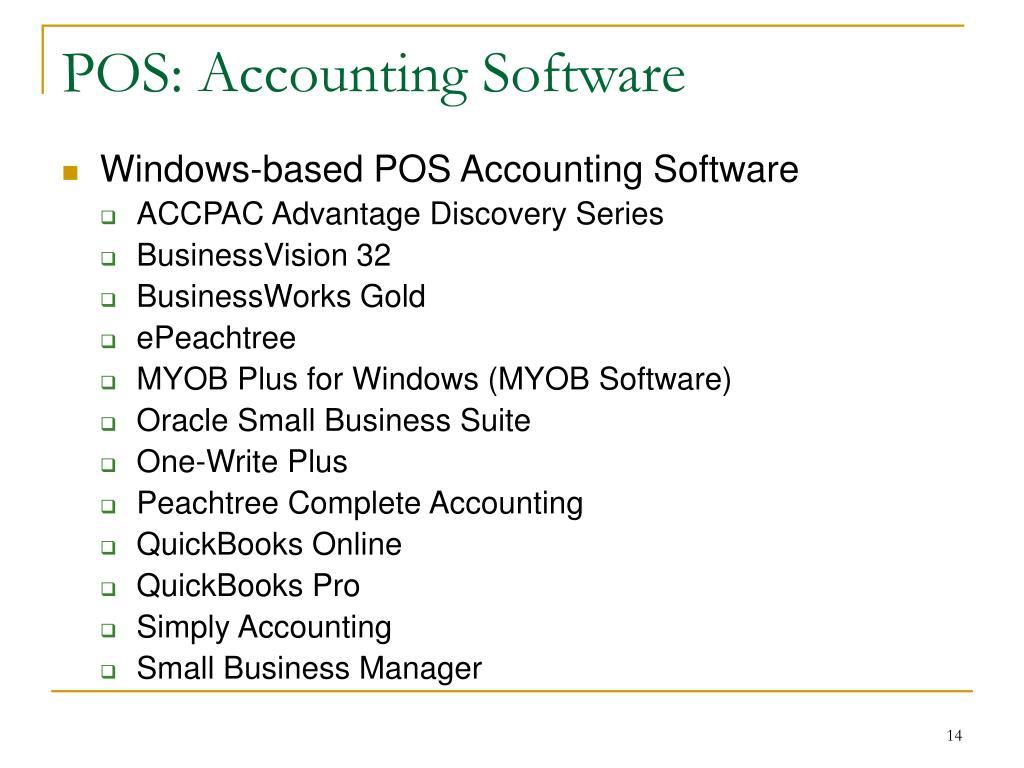 POS: Accounting Software