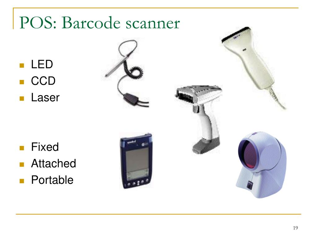 POS: Barcode scanner