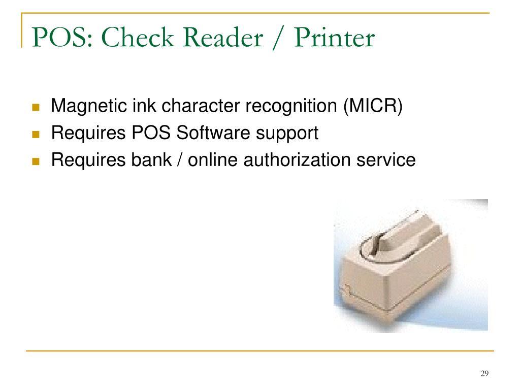 POS: Check Reader / Printer