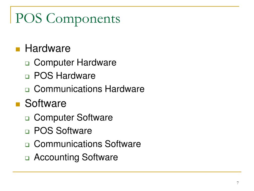 POS Components