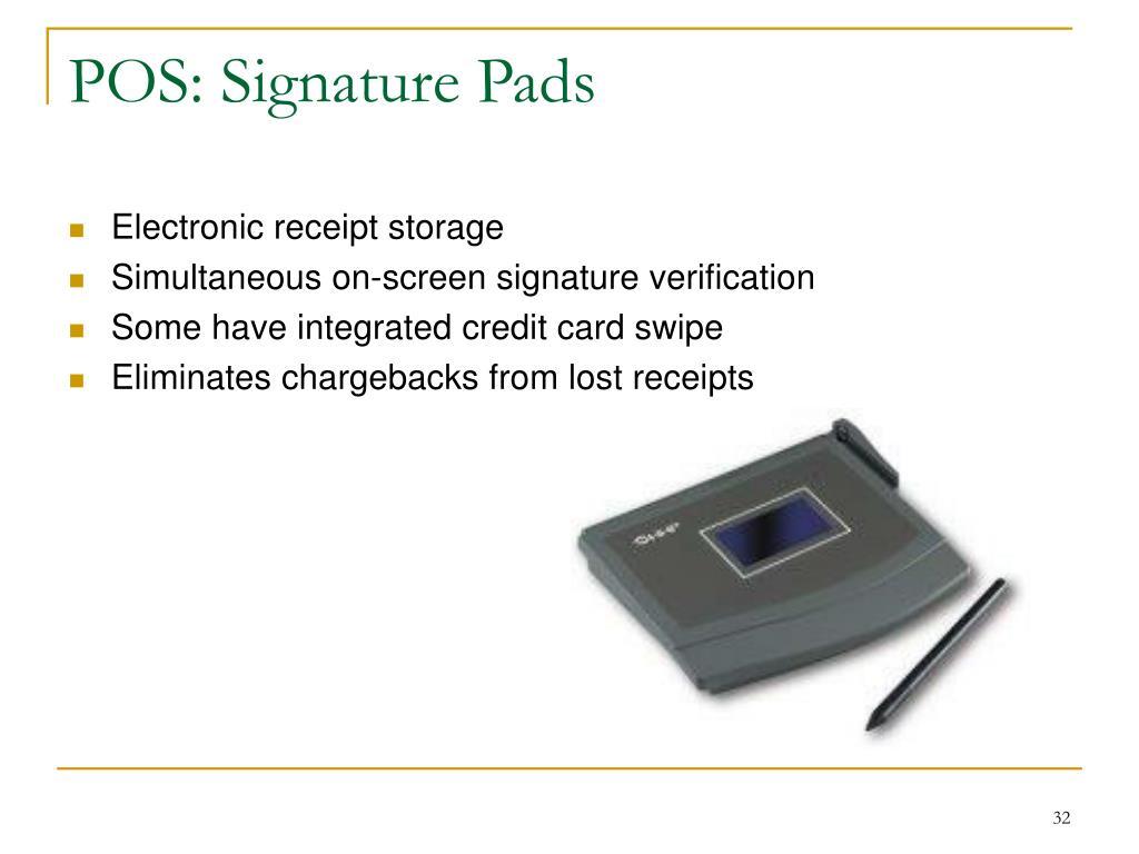 POS: Signature Pads