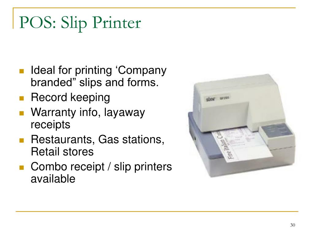 POS: Slip Printer